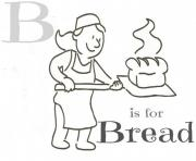 alphabet s b is for breadfe57 coloring pages