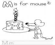free alphabet s m is for mouse8b50 coloring pages