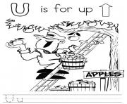 Letter U  1a91c coloring pages