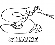 Print snake alphabet 7a4c coloring pages
