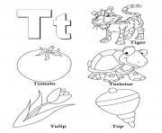 Print words of t alphabet da4f coloring pages