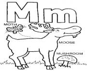 Print m words free alphabet s70ac coloring pages