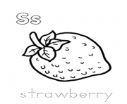 Print strawberry fruit alphabet bf21 coloring pages