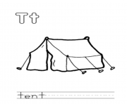 Printable alphabet  a tent53f3 coloring pages