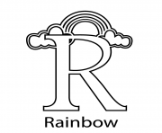 Print rainbow free alphabet sccb0 coloring pages