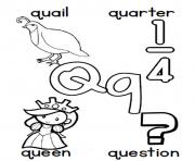 Print word q alphabet sea52 coloring pages