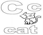 printable s alphabet c for catab4b coloring pages