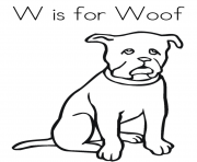 Print woof free alphabet s2368 coloring pages