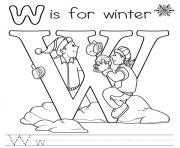 Print winter free alphabet s9990 coloring pages
