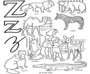 Printable alphabet s free zooe0ba coloring pages