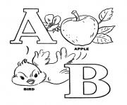alphabet s printable apple and birdfe15 coloring pages