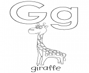 Print g is for giraffe s alphabet2ceb coloring pages
