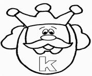 alphabet s free king word0720 coloring pages