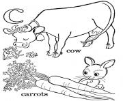 Printable carrot and cow s alphabet c1bdf coloring pages