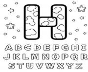 Print letter h alphabet s printablef495 coloring pages