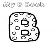 Print my b book alphabet sc491 coloring pages