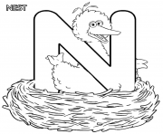 Printable sesame street free alphabet s36ce coloring pages