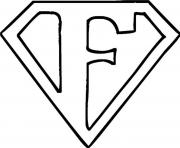 Print superman logo f alphabet s free97f7 coloring pages