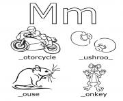 Print free alphabet s m wordsbd4e coloring pages