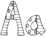 Print patriotic alphabet s printable4374 coloring pages