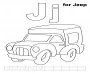 Printable alphabet  j for jeepa9c0 coloring pages