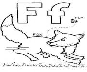 Print fox and fly free alphabet scbf0 coloring pages