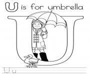 Print printable u alphabet s free6ac4 coloring pages