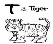 Print alphabet  wild tigerbf71 coloring pages