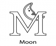 Print m for moon free alphabet s7c78 coloring pages