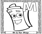 Print m is for map free alphabet s0fc7 coloring pages