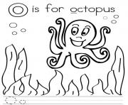 Print o for octopus alphabet s76db coloring pages