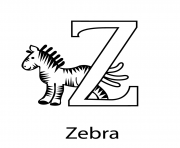 alphabet s zebra1845 coloring pages