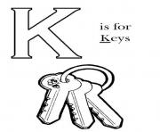 Print k is for key alphabet s free9b33 coloring pages