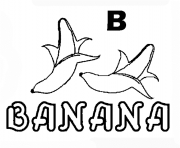 Print alphabet s banana in b colorc66b coloring pages