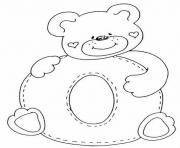 Print cute bear in o alphabet s2865 coloring pages