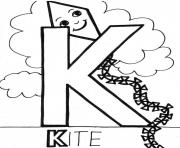 Printable kite alphabet s freef9be coloring pages