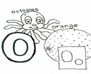Printable octopus and orange alphabet sfd5e coloring pages