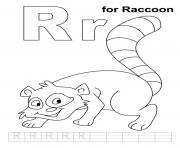 Printable raccoon free alphabet sb77c coloring pages
