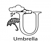 umbrella alphabet s free3494 coloring pages