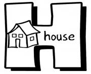 Print alphabet s printable h is for house3cf8 coloring pages