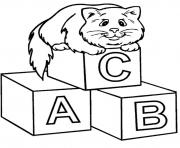 alphabet s printable with a cat466c coloring pages