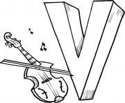 alphabet s violin151d coloring pages