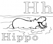 Print h is for hippo alphabet s printablec1c5 coloring pages