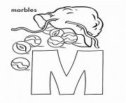 free alphabet s m for marbles496b coloring pages