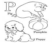Printable free alphabet s p words7d29 coloring pages