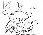 Print kittens alphabet s freec89d coloring pages