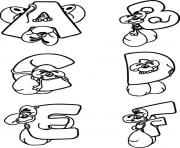 mouse alphabet s printable1a39 coloring pages