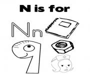 Print kids free alphabet s14541 coloring pages
