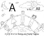alphabet s printable a is for all1948 coloring pages
