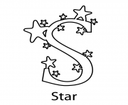 Printable stars alphabet 07ac coloring pages